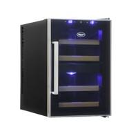 33л Винный холодильник на 12 бутылок с 2-мя температурными зонами Cold Vine C12-TBF2