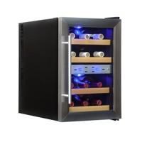 33л Винный холодильник на 12 бутылок с 2-мя температурными зонами Cold Vine C12-TSF2